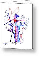 Abstract Drawing Sixty-nine Greeting Card