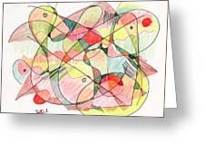 Abstract Drawing Twenty Greeting Card