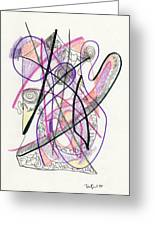 Abstract Drawing Twenty-six Greeting Card