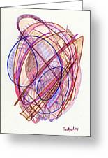 Abstract Drawing Twenty-two Greeting Card