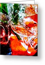 Abstract Drink Greeting Card