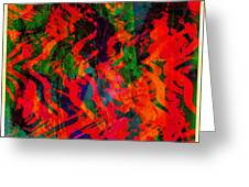 Abstract - Emotion - Rage Greeting Card