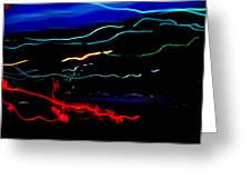Abstract Evening Lights 2 Greeting Card