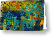 Abstract Expressions - Background Art Greeting Card