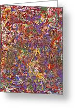 Abstract - Fabric Paint - String Theory Greeting Card by Mike Savad