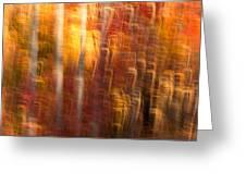 Abstract Fall 7 Greeting Card