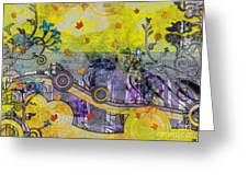 Abstract - Falling Leaves Greeting Card
