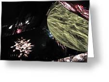 Abstract Firework - Ile De La Reunion - Reunion Island - Indian Ocean Greeting Card by Francoise Leandre
