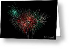 Abstract Fireworks Greeting Card by Robert Bales