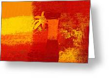 Abstract Floral - 6at01a Greeting Card