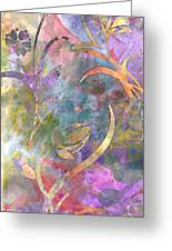 Abstract Floral Designe - Panel 1 Greeting Card