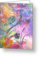Abstract Floral Designe - Panel 2 Greeting Card