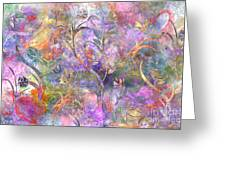 Abstract Floral Designe  Greeting Card