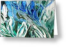 Abstract Floral Sky Reflection Greeting Card