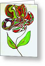 Abstract Flower Greeting Card