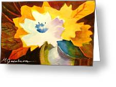 Abstract Flowers 2 Greeting Card