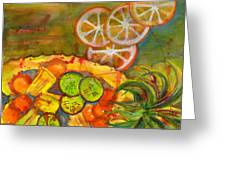 Abstract Food Kitchen Art Greeting Card