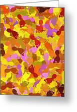 Abstract Footprints Greeting Card