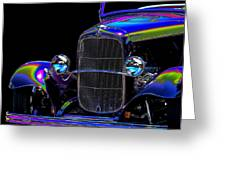 Abstract Ford - Classic Hotrods Greeting Card