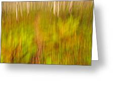 Abstract Forest Scenery Greeting Card