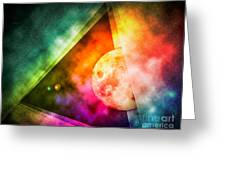 Abstract Full Moon Spectrum Greeting Card