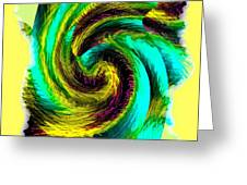 Abstract Fusion 201 Greeting Card