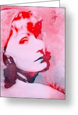 Abstract Garbo Greeting Card