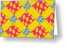Abstract Geometric Colorful Seamless Greeting Card
