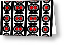 Pattern Black White Red Art No. 379. Greeting Card by Drinka Mercep