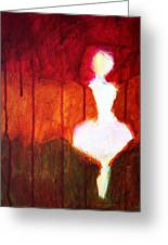Abstract Ghost Figure No. 2 Greeting Card