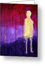 Abstract Ghost Figure No. 3 Greeting Card