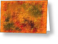 Abstract Golden Earth Tones Abstract Greeting Card