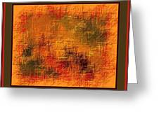 Abstract Golden Earthones With Quad Border Greeting Card