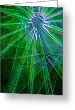 Abstract Green Lights Greeting Card