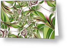 Abstract Green Plant Greeting Card