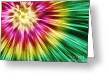 Abstract Green Tie Dye Greeting Card