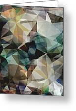 Abstract Grunge Triangles Greeting Card
