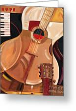 Abstract Guitar Greeting Card