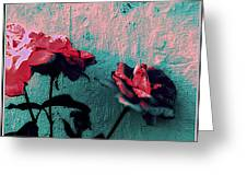 Abstract Hdr Roses Greeting Card