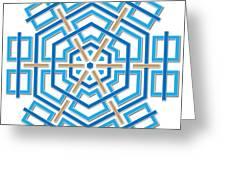 Abstract Hexagonal Shape Greeting Card