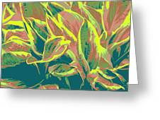 Abstract - Hostatakeover Greeting Card