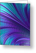 Abstract In Blue And Purple Greeting Card