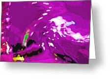 Abstract In Purple Greeting Card