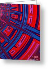 Abstract In Red And Blue Greeting Card