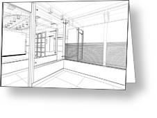 Abstract Interior Construction Greeting Card