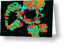 Abstract Iris Greeting Card by James Hammen