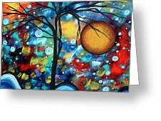 Abstract Landscap Art Original Circle Of Life Painting Sweet Serenity By Madart Greeting Card