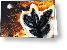 Abstract Landscape Art - New Growth - By Sharon Cummings Greeting Card