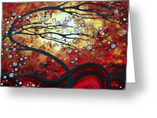 Abstract Landscape Art Original Painting Where Dreams Are Born By Madart Greeting Card