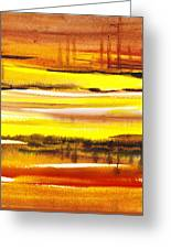 Abstract Landscape Found Reflections Greeting Card